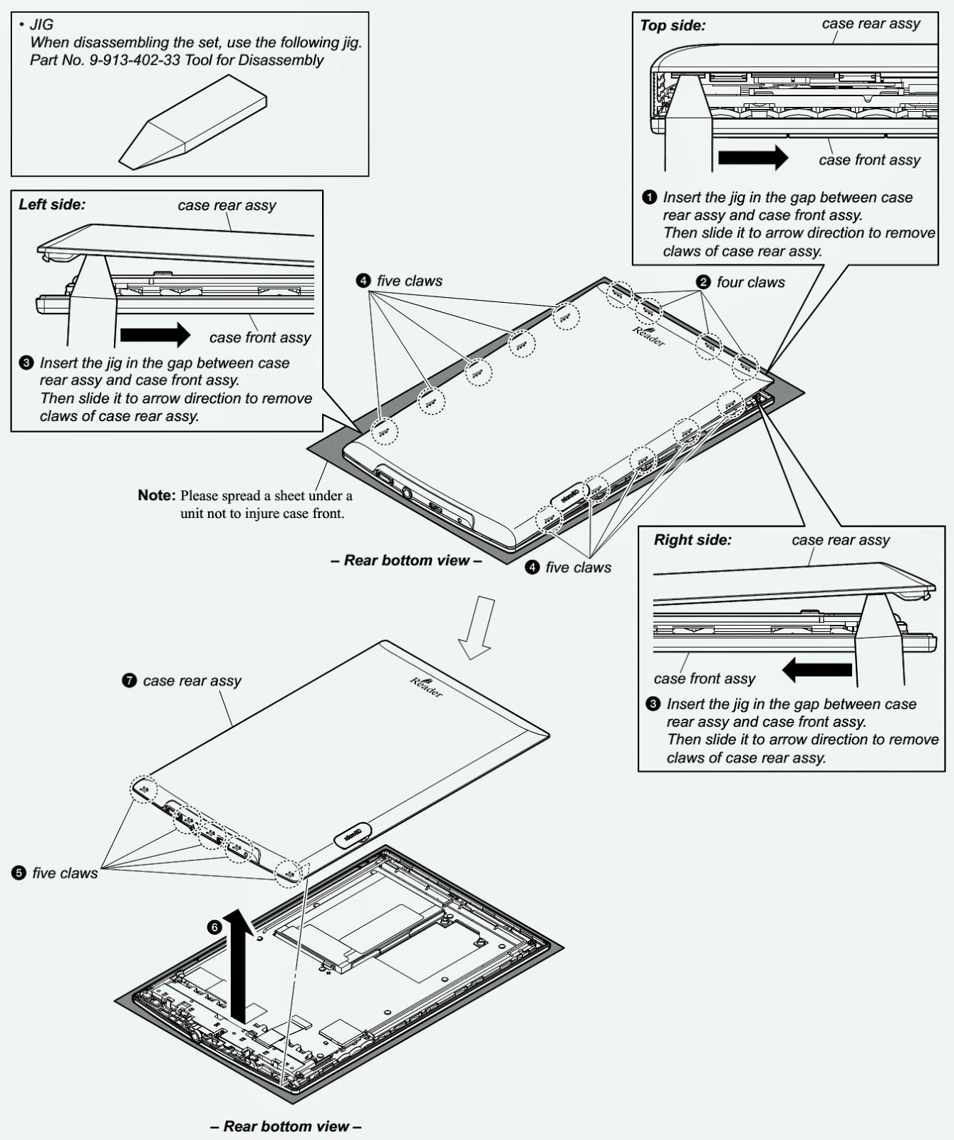 Wiring Schematic Diagram Sony Prs T1 Digital Book Reader Main Board