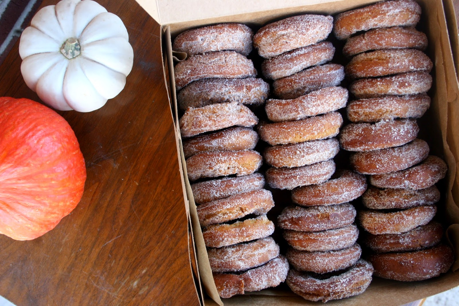 Homemade Apple Cider Donuts in box