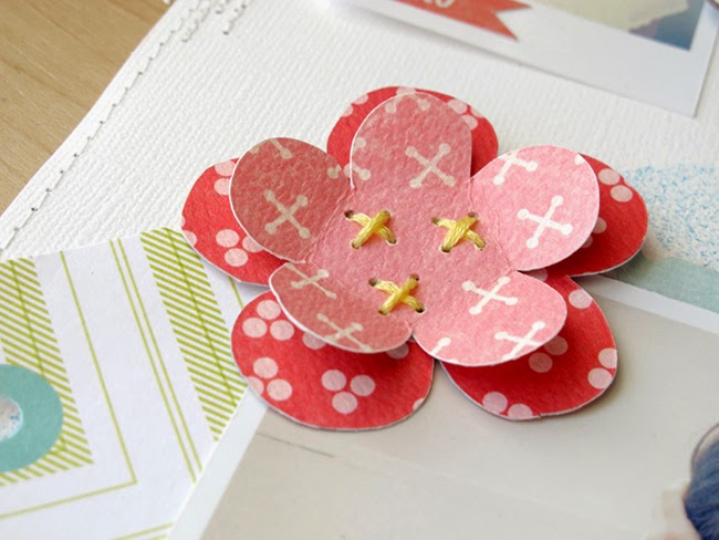 Kim watson design papercraft layered paper flowers free held together by x3 cross stitches tell they arent the cutest thing mightylinksfo