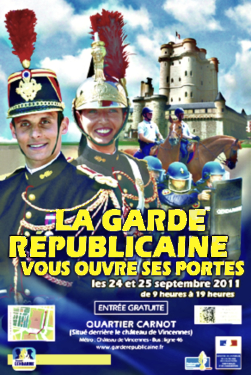 Blog comit snaag 94 et r servistes gendarmerie journ es portes ouvertes 2011 la garde - Portes ouvertes garde republicaine ...