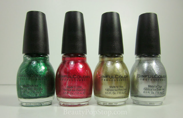 sinfulcolors mirror metallics swatches and review