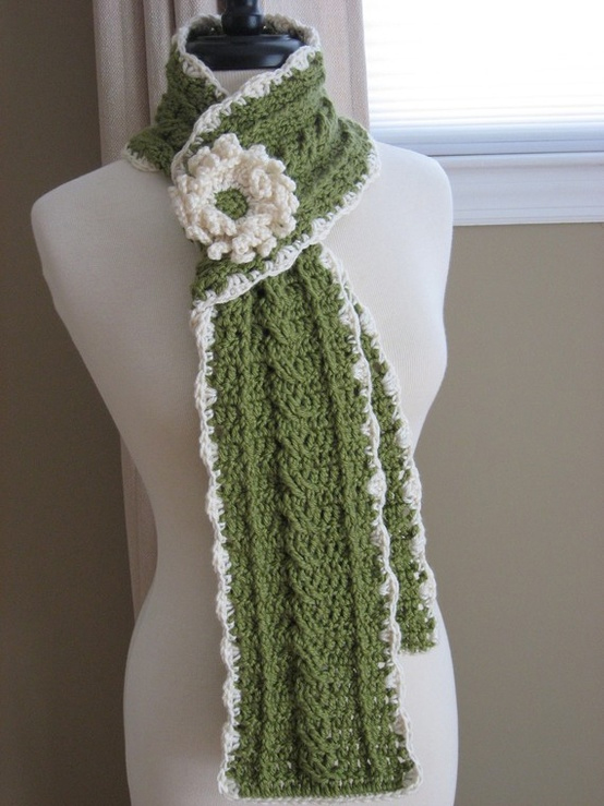 Crochet Scarf Patterns With Cables : Its Tommys Time: Beautiful Custom Crocheted Cable Scarf ...
