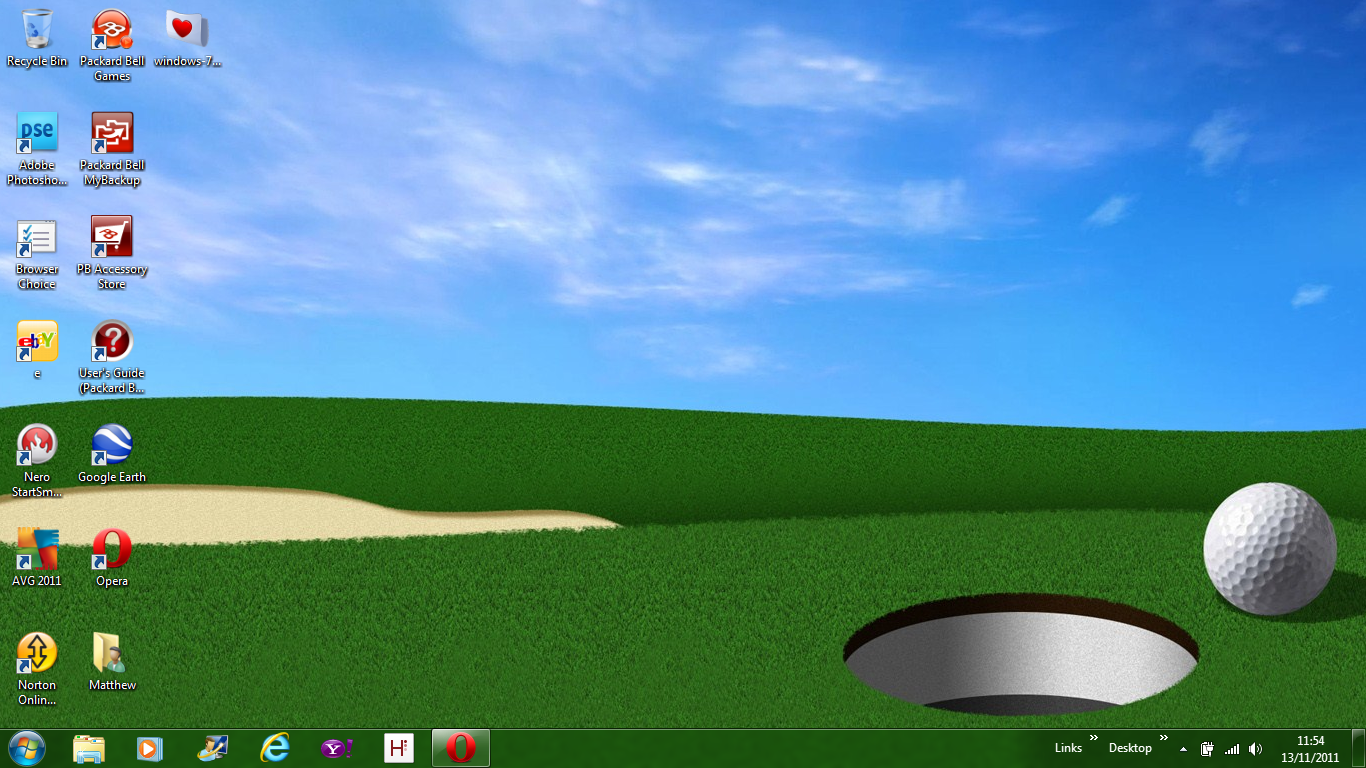 Amateur golfer windows 7 golf theme free wallpaper amateur golfer windows 7 golf theme how to include new gadgets themes wallpapers and screensavers in windows 7 setup iso file voltagebd Images