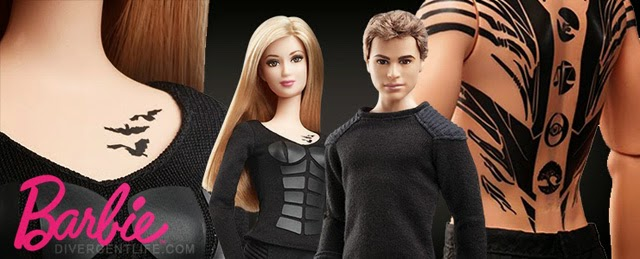 Bonecos do Four e da Tris Barbie Mattel Divergente