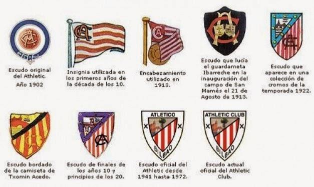 Resultado de imagen de evolucion escudo athletic club