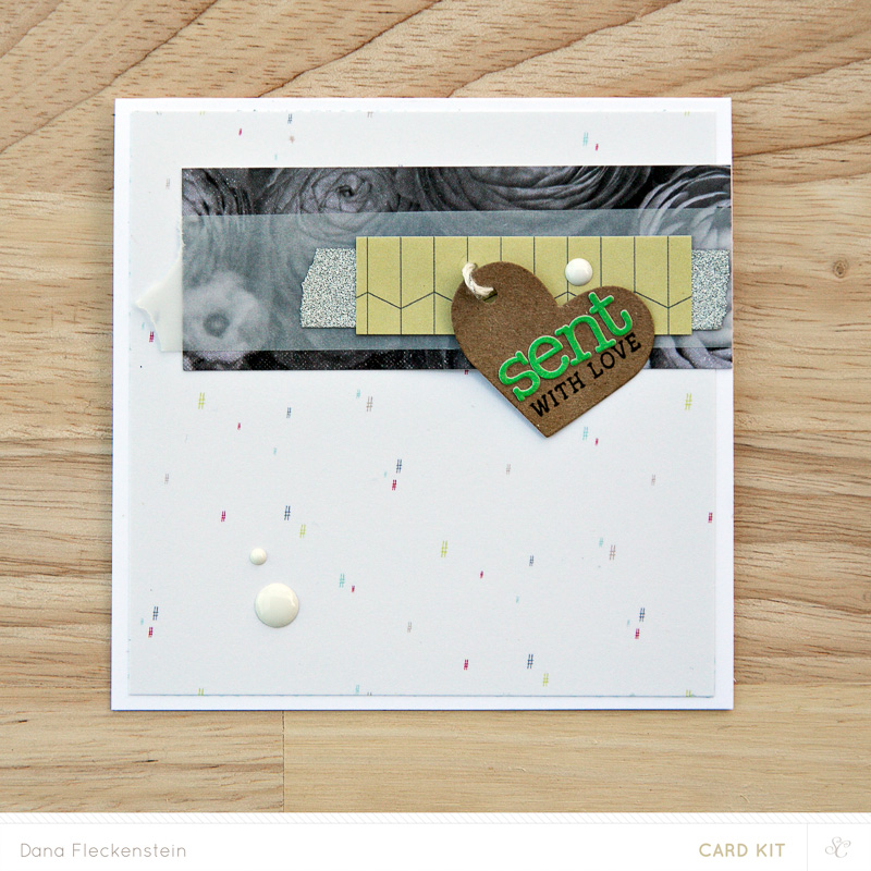 #sentwithlove card made with Studio Calico Park Ave. card kit by @pixnglue