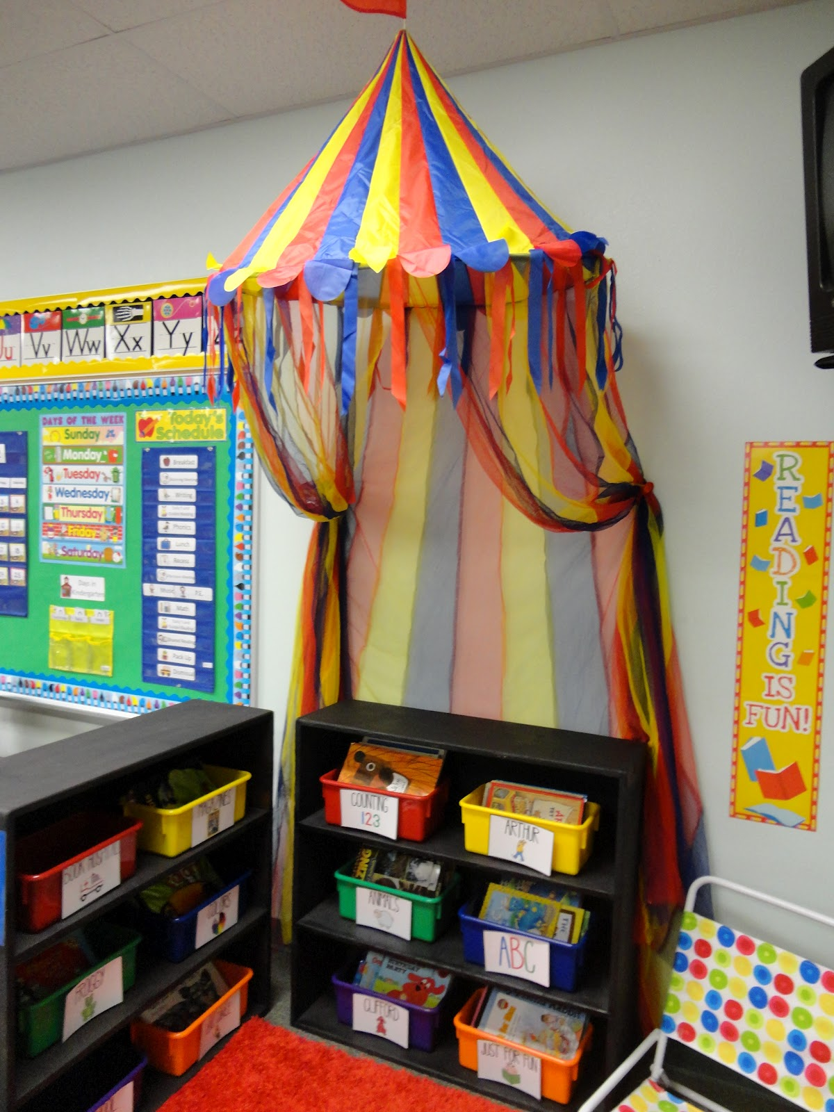 Elementary Classroom Decorations ~ Welcome to the circus my big classroom reveal yeehaw