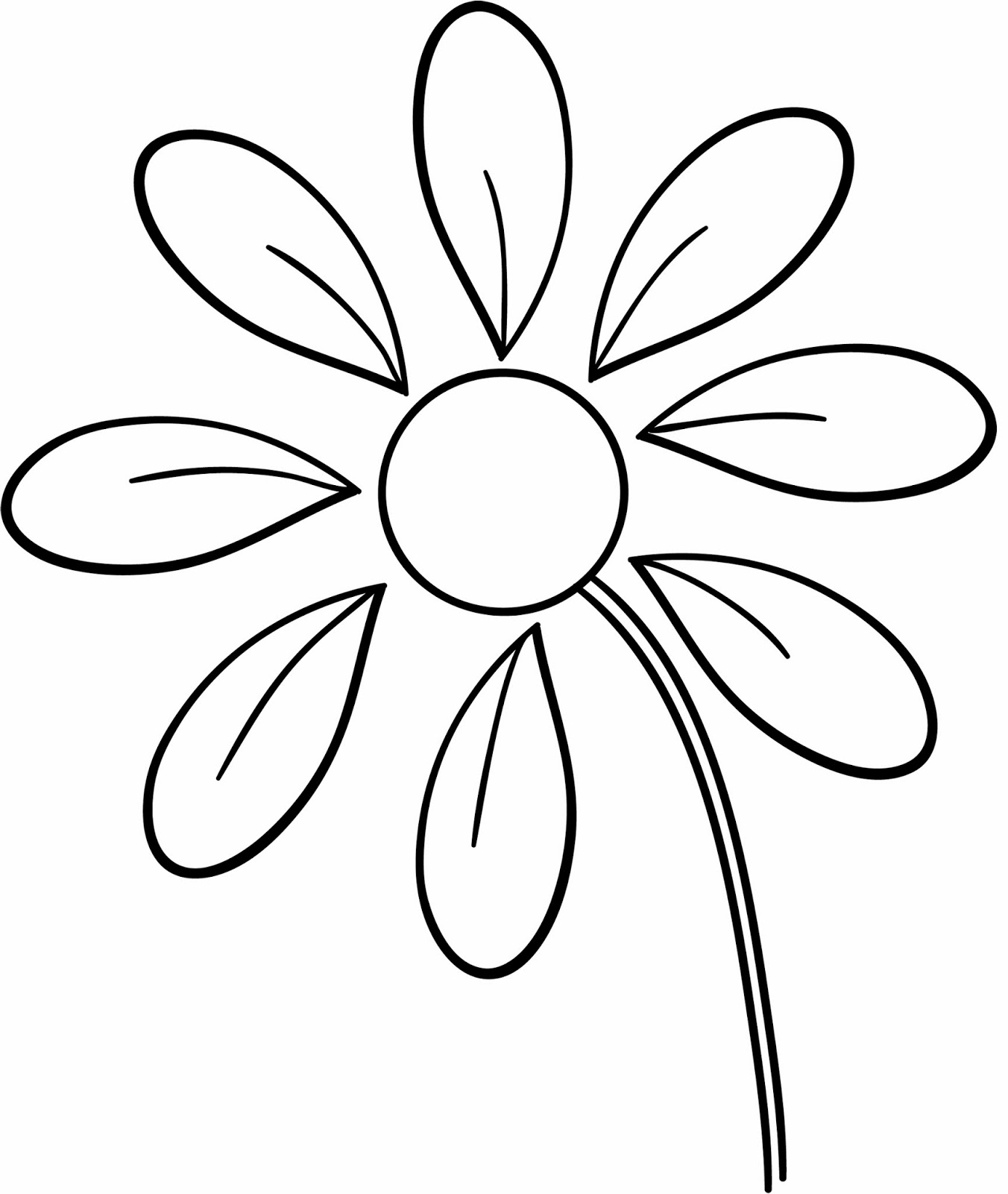 Lost in paper scraps free file s friday for Blank flower coloring pages