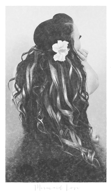 mermaid, mermaid love, secrets, photo art, louise von livsglitter, photography, photographer, sea, shell,