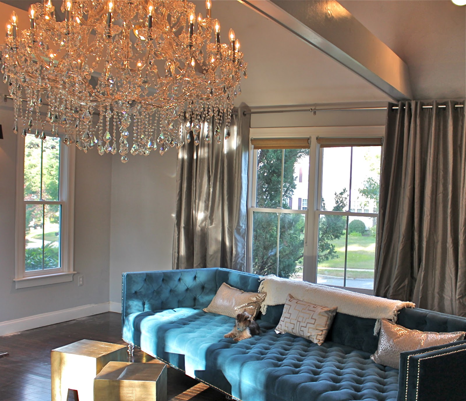 House updates new family room chandelier south shore house updates new family room chandelier mozeypictures Gallery