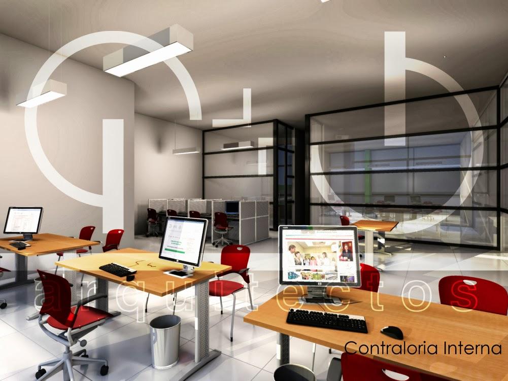 Renders oficinas administrativas fstudio 3d servicio de for Planos de oficinas administrativas