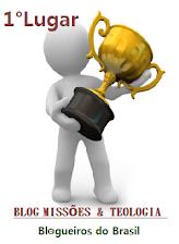 """Na enquete promovida pelo Grupo Blogueiros do Brasil, em Agosto 2014, no quesito """"Blog Cristão""""."""