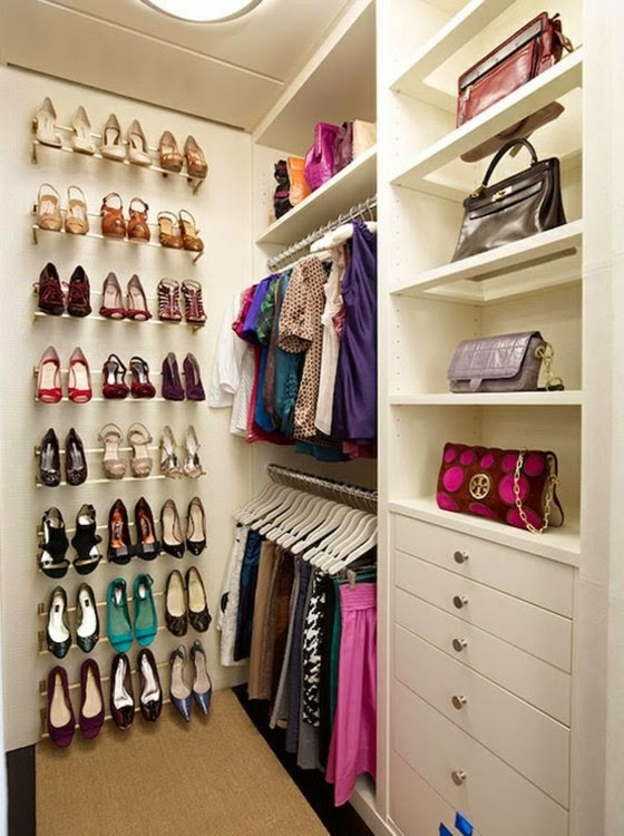 How to organize a small walk in closet 20 ideas Diy wardrobe organising ideas