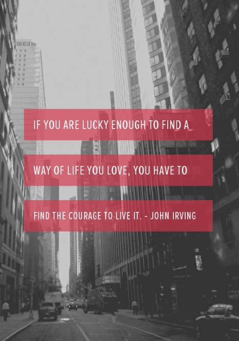 quote about living by john irving
