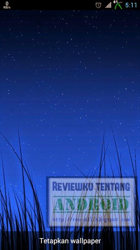 Tampilan malam aplikasi Grass Live Wallpaper - wallpaper siang malam rumput bergoyang (rev-all.blogspot.com)