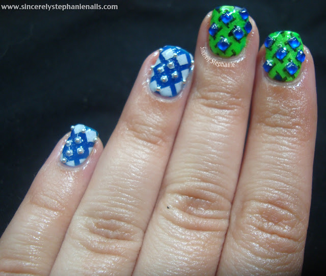 china glaze neons bundle monster stamping nail art