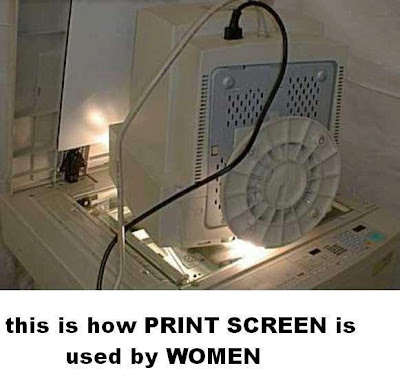 Print Screen, Example of How a women can take Print Screen