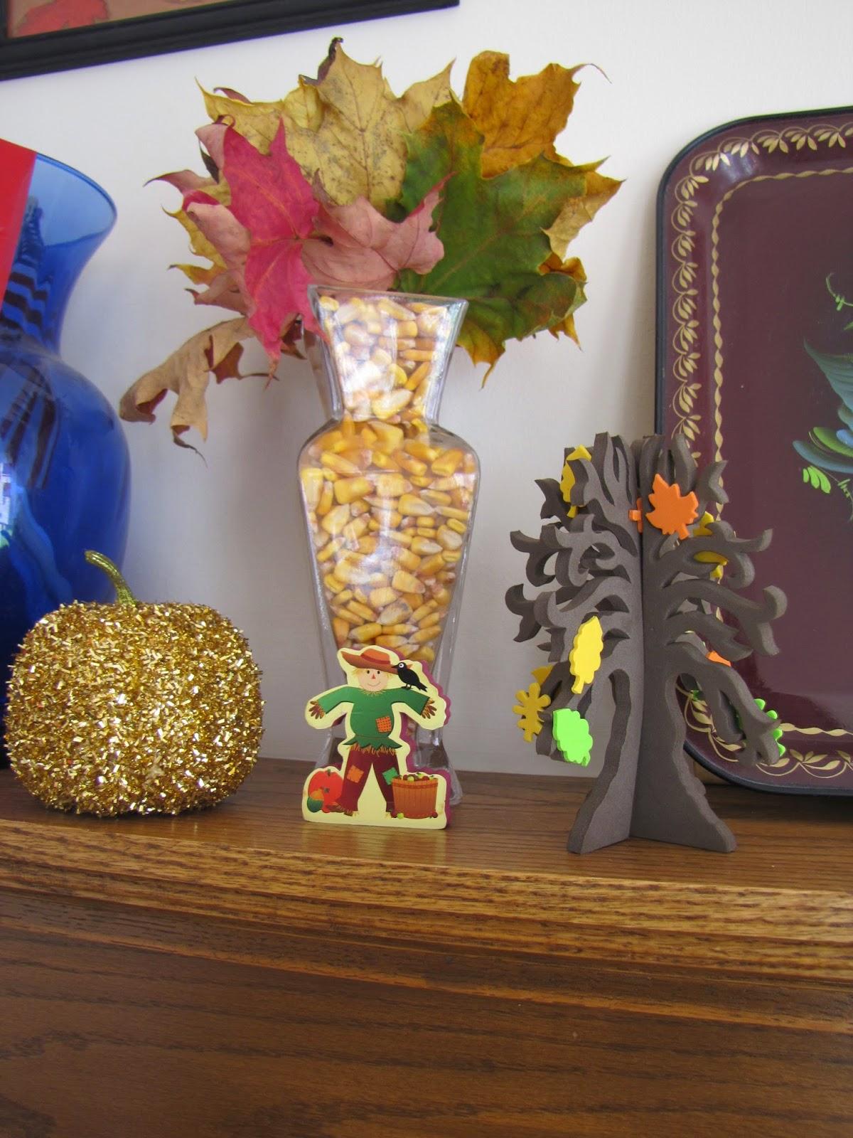 fall, autumn, corn, leaves