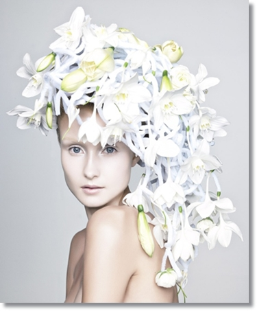floral art ice queen, isdrottning, annette von einem