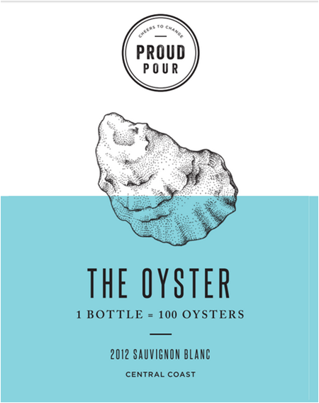 Oyster Wine label
