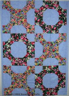 center of Hugs and Kisses quilt