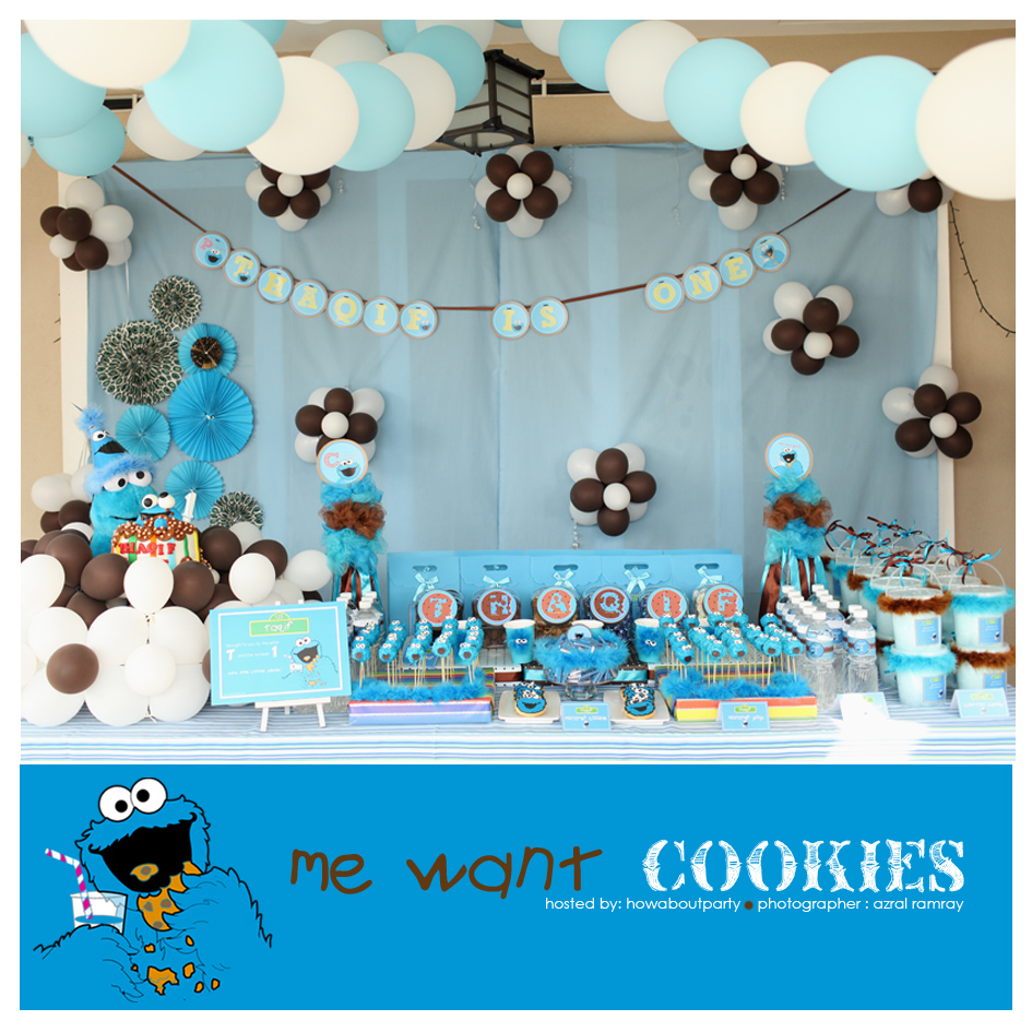how about party cookie monster me love cookies
