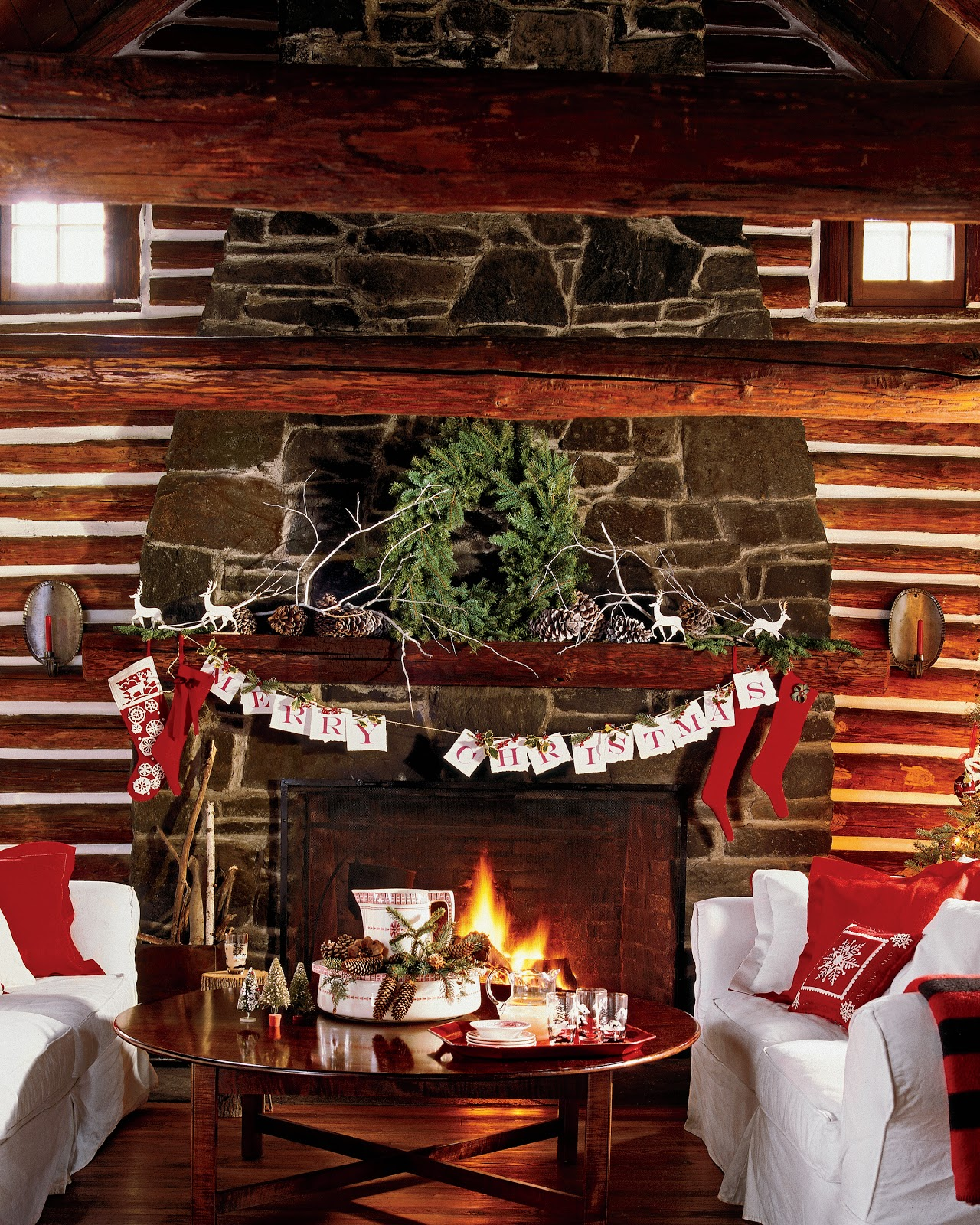 Karin lidbeck december 2012 for Country cabin christmas