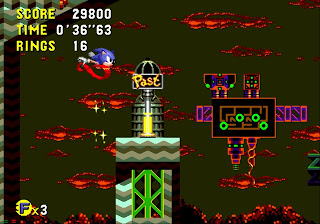 Sonic CD level gameplay