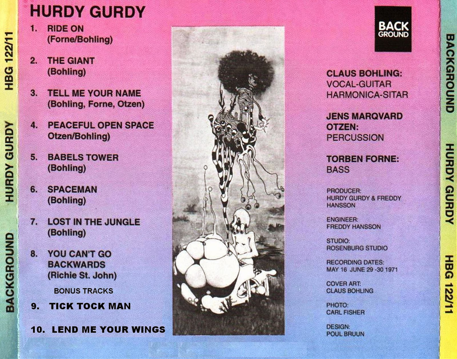 Hurdy Gurdy Tick Tock ManLend Me Your Wings