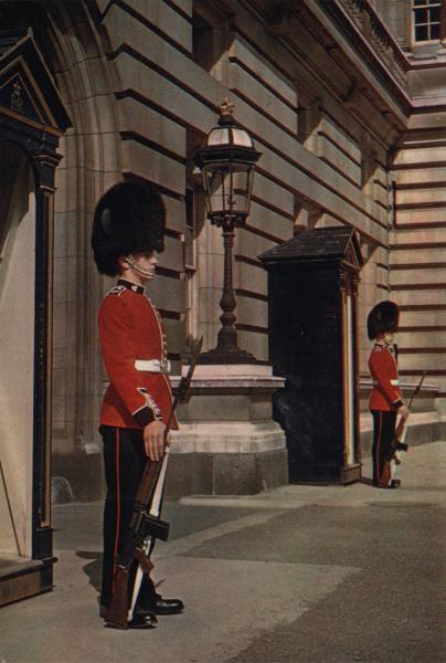 Irish guards on sentry duty