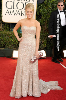 Singer Carrie Underwood arrives at the 68th Annual Golden Globe Awards in Beverly Hills