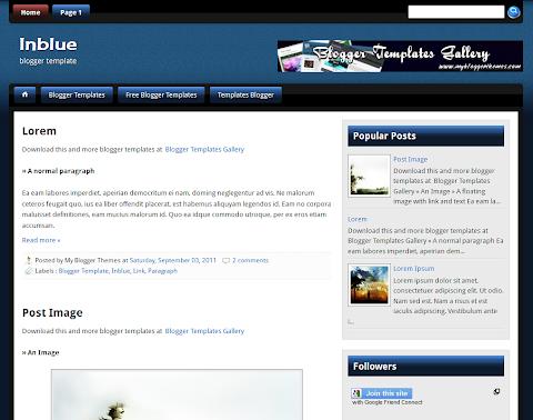InBlue Blogger Theme