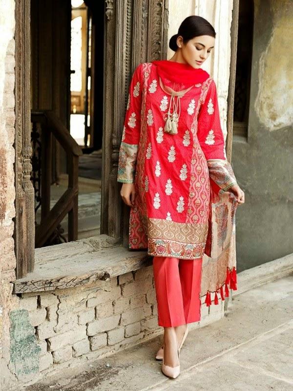 New Khaadi Spring Formal Wear Dresses 2015 3
