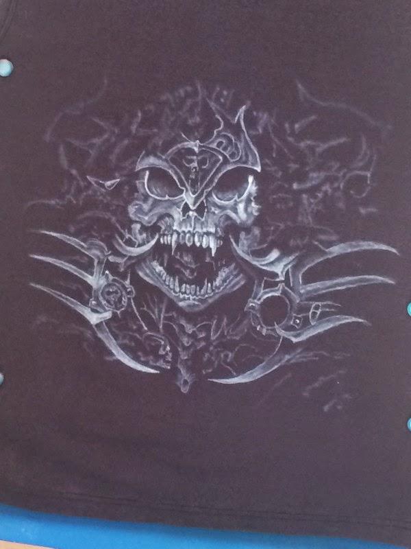 tuto pas a pas aerographe t-shirt thème fitto par bysoairdisign photo 4