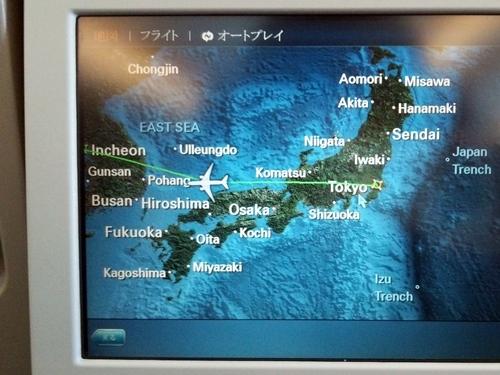 大韓航空 KE706便 成田-ソウル(インチョン)