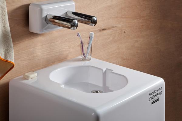 Комплект Electric Water: раковина, дозатор для мыла и электронный смеситель