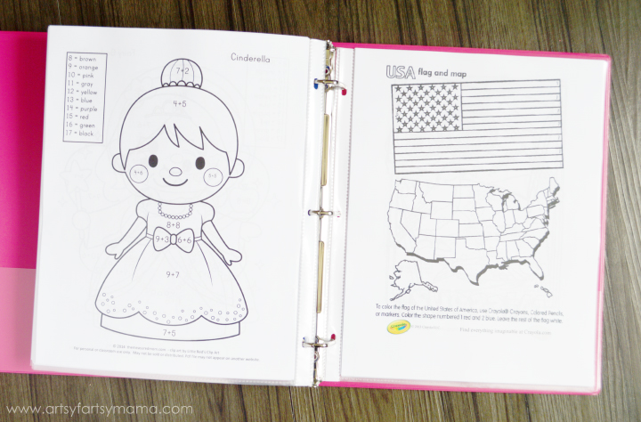 Road Trip Binder with Free Printable Coloring Pages at artsyfartsymama.com