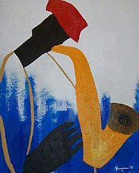 Jazz Saxophonist (Sold)