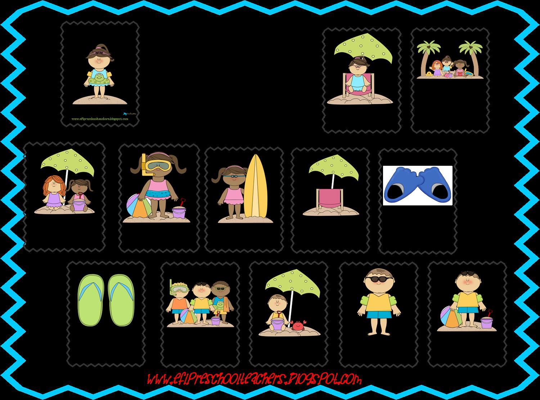 ESL/EFL Preschool Teachers: Beach Theme