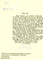 Comunicado de Alcalde. Fecha 22/10/1983
