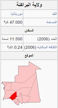 معلومات عامة عن ولاية لبراكنه