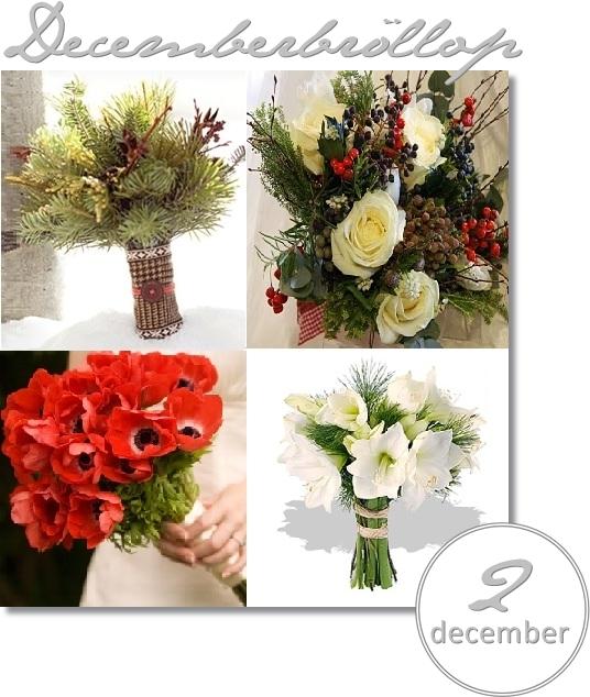 decemberbröllop, julbröllop, brudbukett jul, brudbukett vinter, brudbukett bär