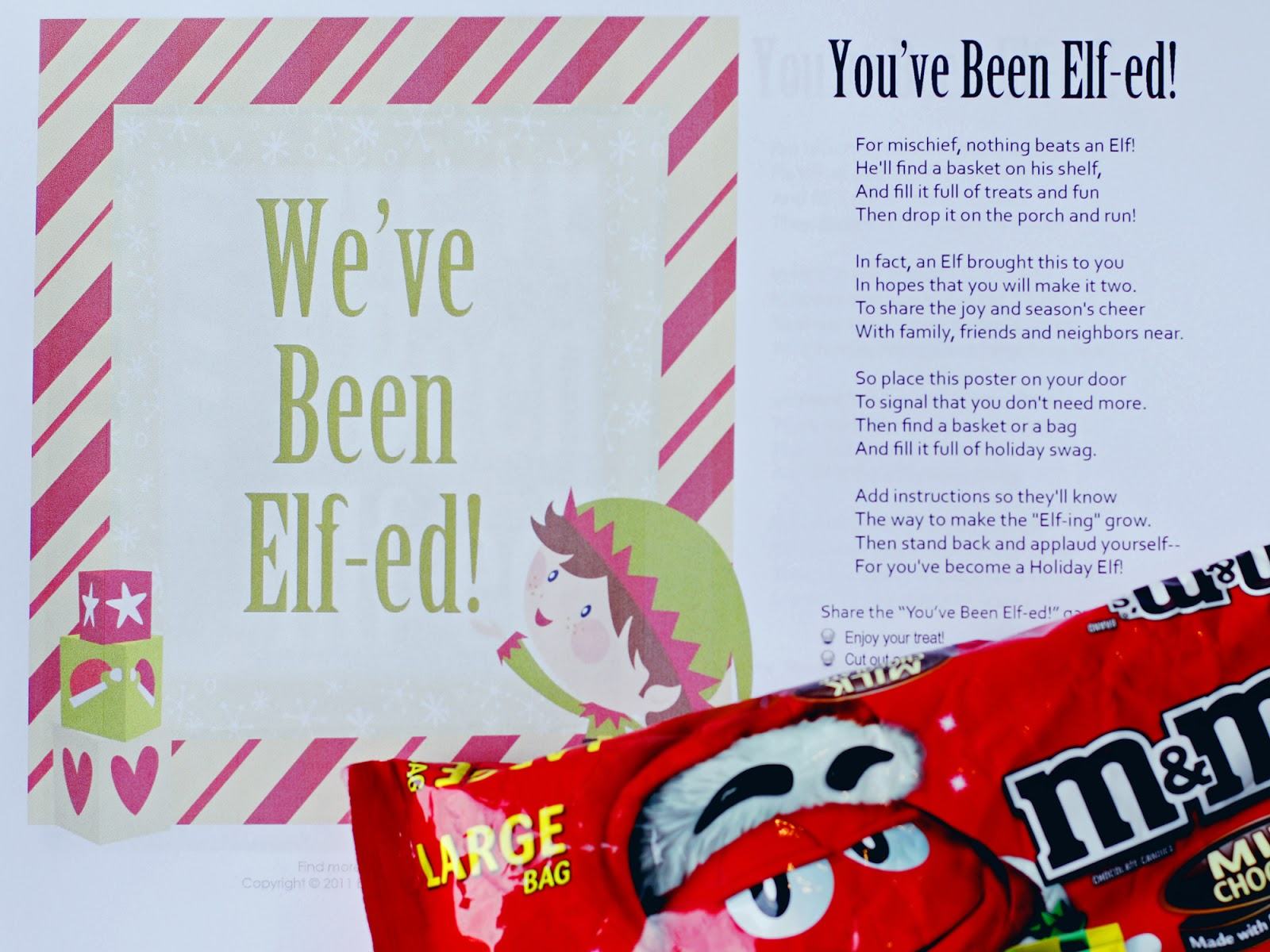 image about You've Been Elfed Free Printable referred to as Shyloh Belnap: December 2015