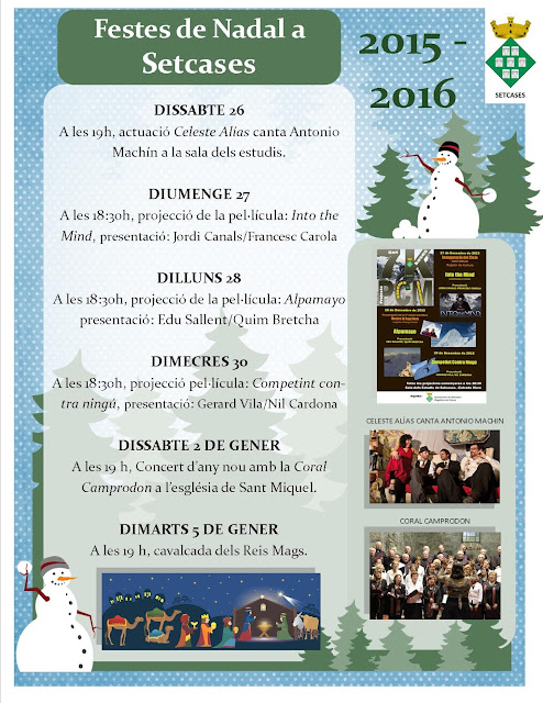 Programa d'activitats Nadal a Setcases