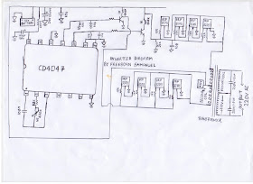 how to build an inverter: 1000 watts inverter circuit diagram  how to build an inverter - blogger