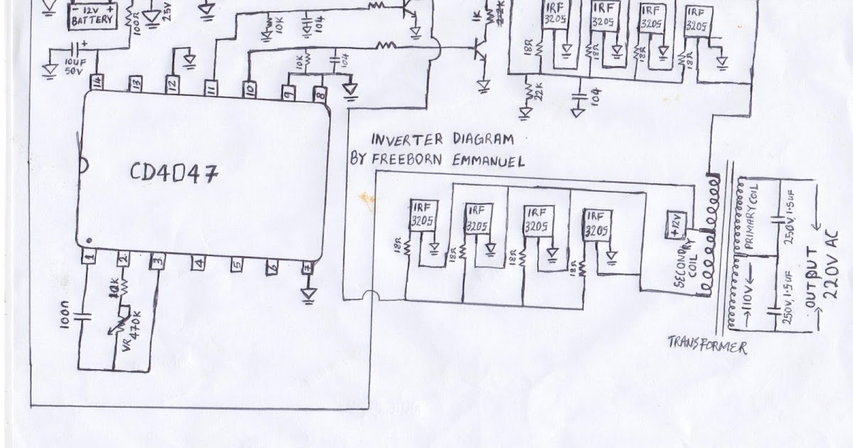 How To Build An Inverter  1000 Watts Inverter Circuit Diagram