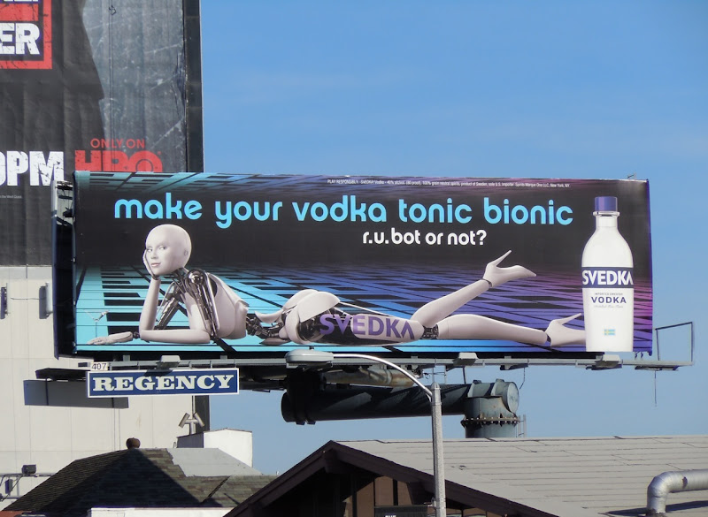Svedka Vodka tonic bionic billboard