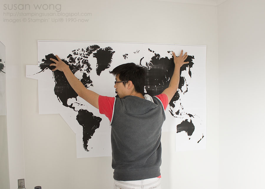Susan Wong. DIY World Map in Chilean Fire.