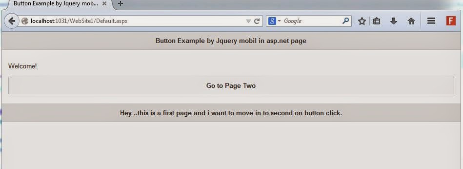 Asp.net jQuery Mobile C# example on asp.net web page