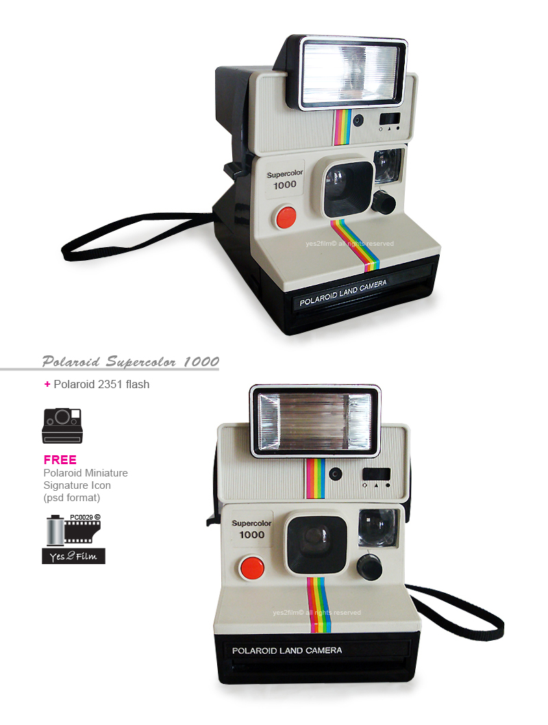 yes2film polaroid supercolor 1000 with polaroid 2351 flash rare. Black Bedroom Furniture Sets. Home Design Ideas